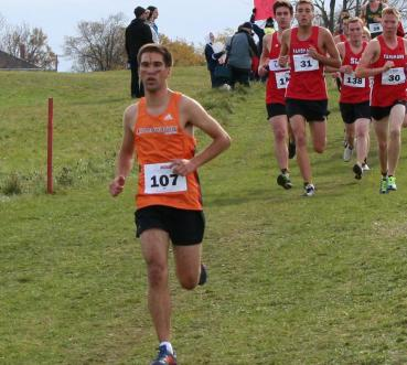 Blogger Michael Marshall running for Mohawk College track team.