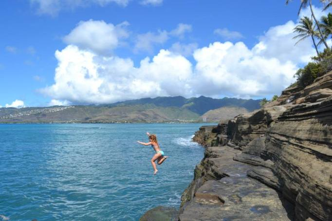 China Wall Jump - Hawaii - Breanna Ehman