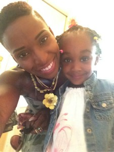 Shola and daughter
