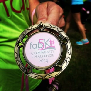 medal FAB5K fit active beautiful
